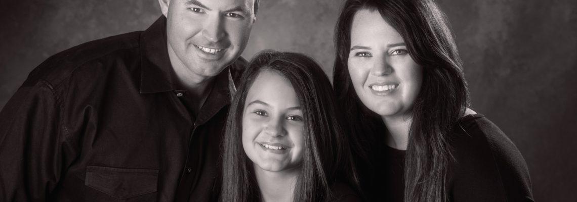 black and white family portraits