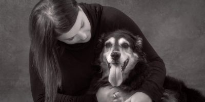 Portrait of lady and her dog - Pet Portraits near Katy Tx