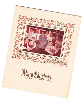 Vintage Familly Christmas Card