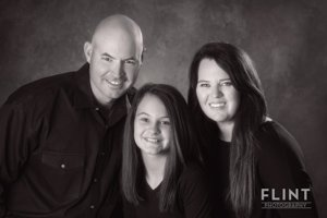 Black and white family portraits | Houston