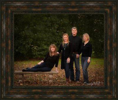 Classic outdoor family portrait created by Sandy Flint - Fine Art Portrait Artist. Flint Photography | Sealy, Tx