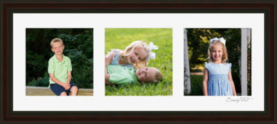 Framed portraits of children