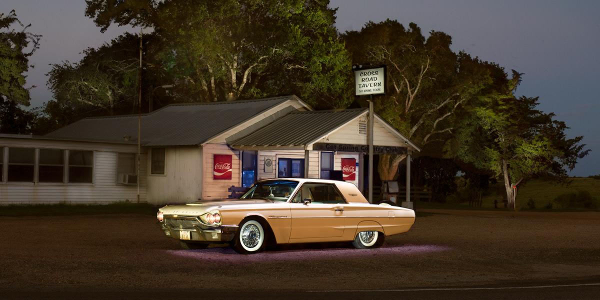 Classic car light painting portrait by Sandy Flint