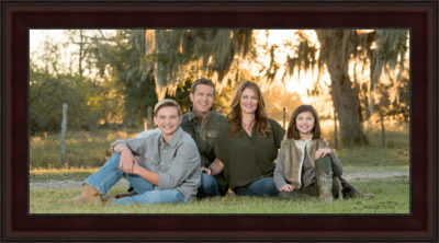 Family portrait created on a ranch near Fulshear, Tx by family photographer Sandy Flint