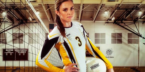 High school senior portrait of a volleyball player by Sandy Flint | Flint Photography | Houston