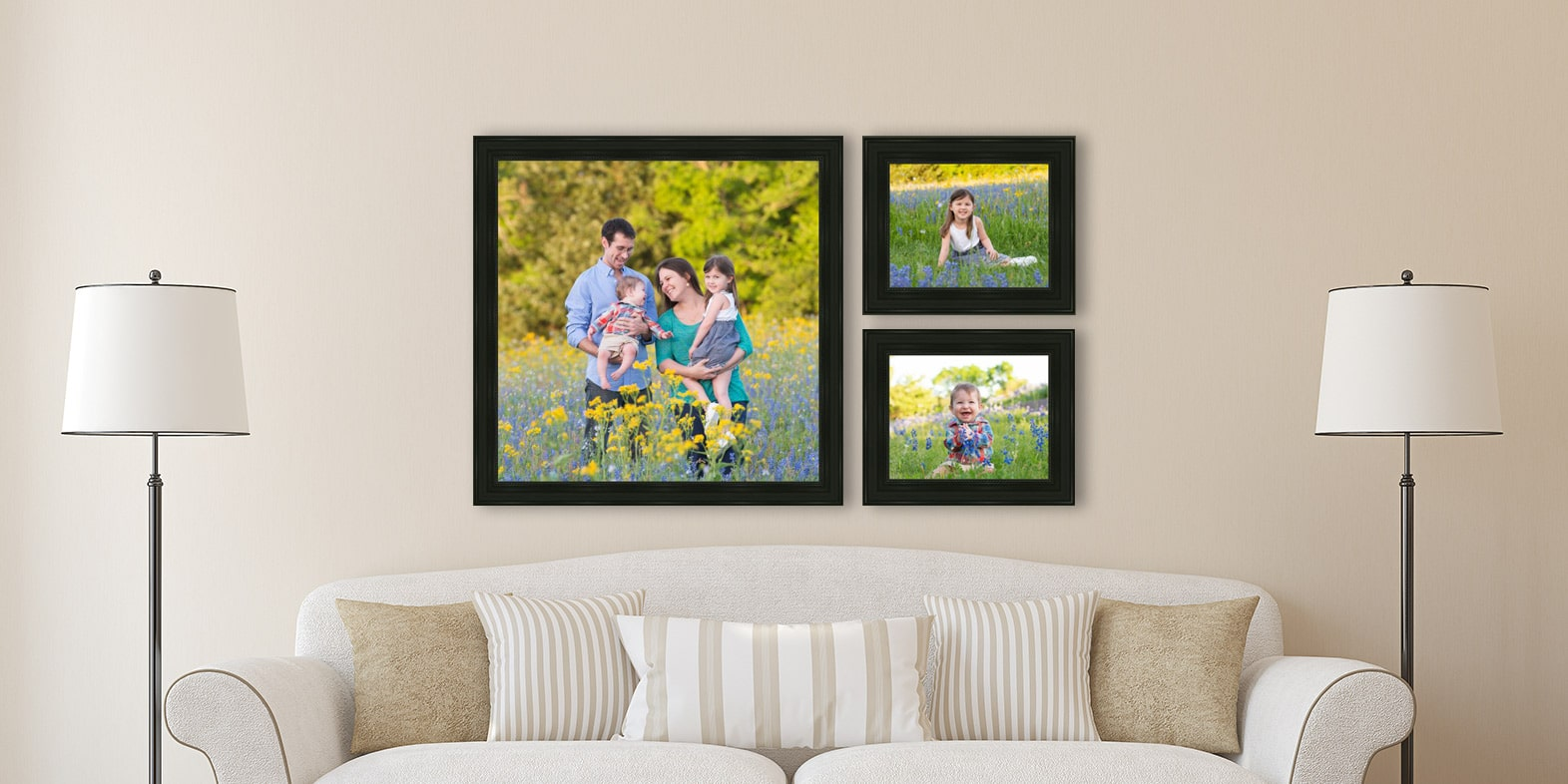Family photographer: Hand crafted family portraits in a bluebonnet field made by Flint Photography near Katy, Tx.