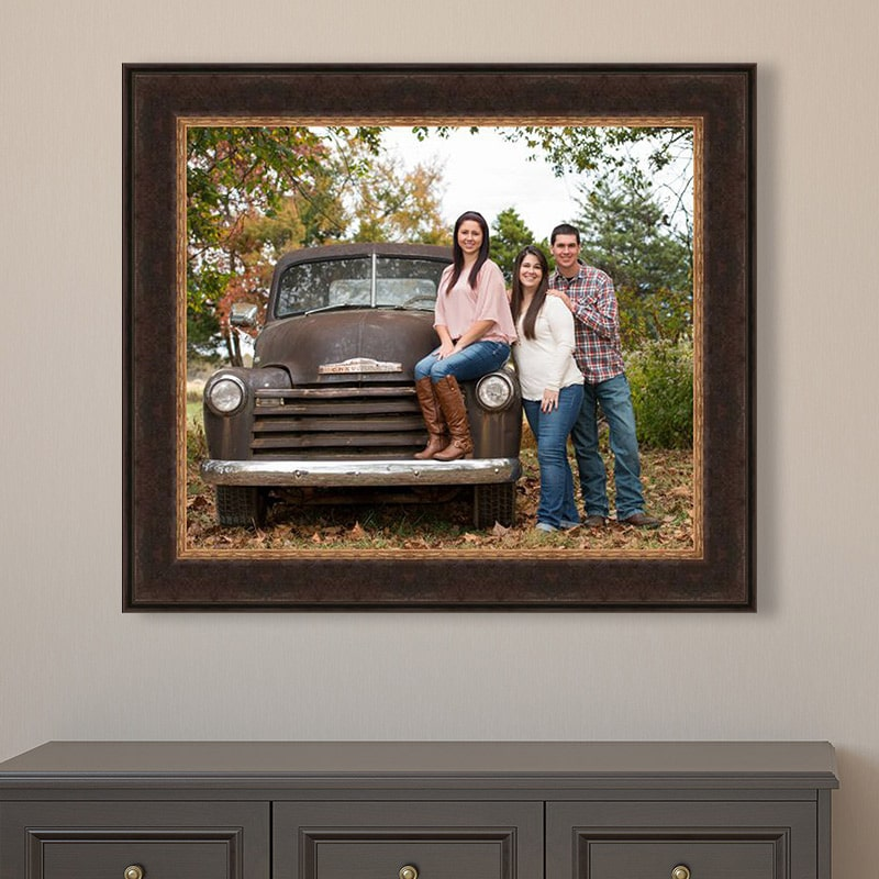 Framed family portrait made on a ranch by Sandy Flint | Flint Photography | Sealy, TX