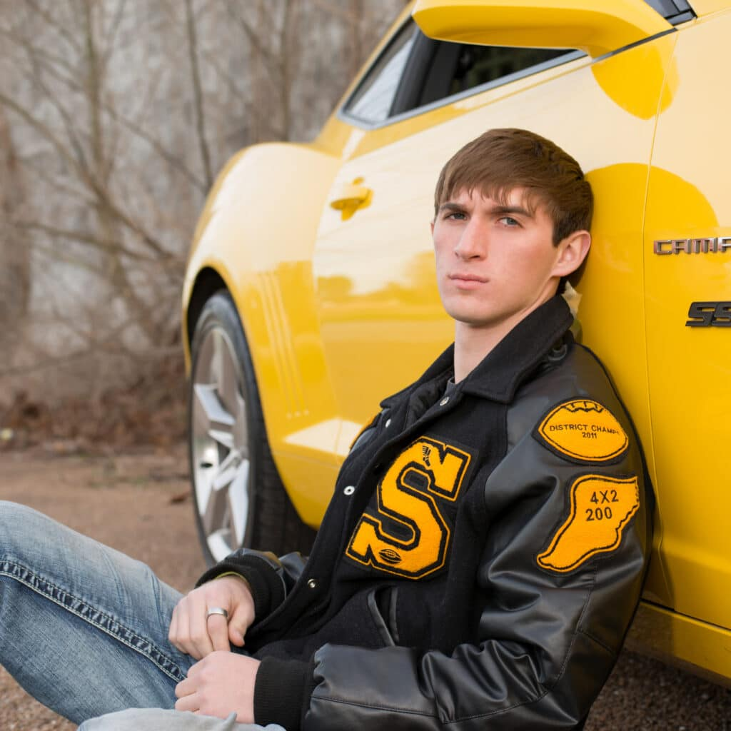 Senior Portraits for guys and their cars in Houston | Flint Photography