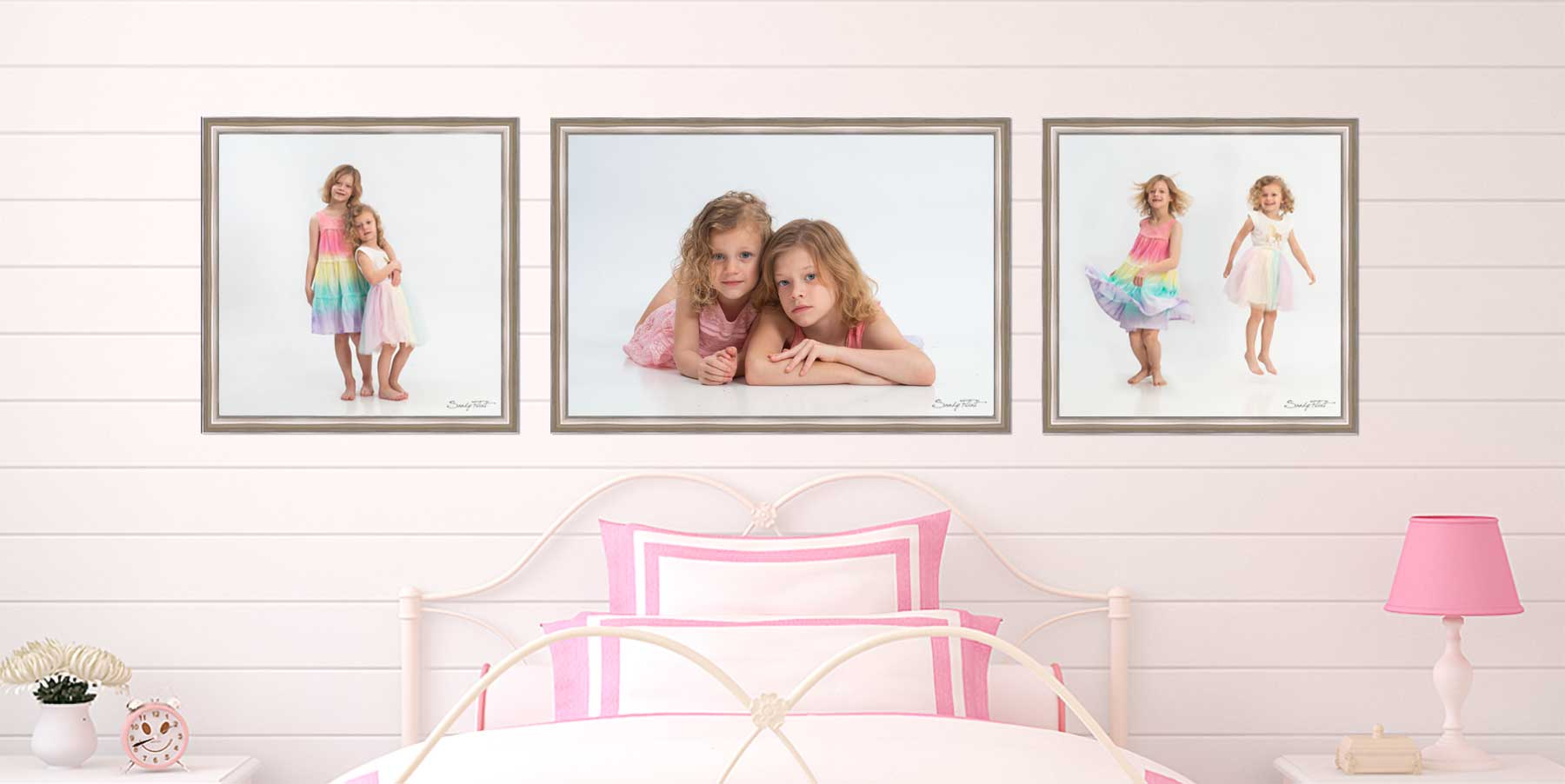 Childrens portrait of two sisters