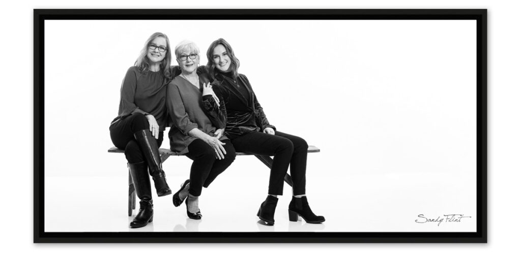 Generations portrait - grandmother, mother, daughter. Made near Houston, Tx