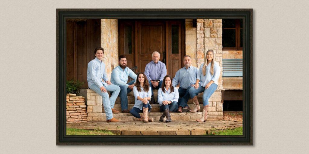 Family Portrait created near Cat Spring, TX | Flint Photography